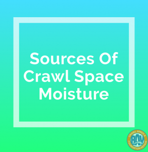 Sources of crawl space moisture
