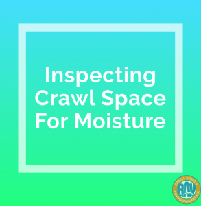 Inspecting Crawl Space For Moisture