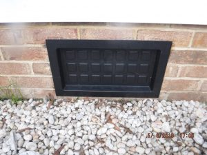 Sealed Crawl Space Vent Cover