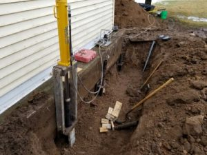 Foundation push piers
